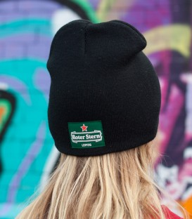 Beanie-Red-Star-green/black