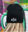 Beanie-Red-Star-black/black