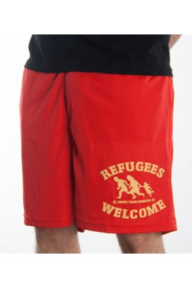 Shorts rot Refugees Welcome