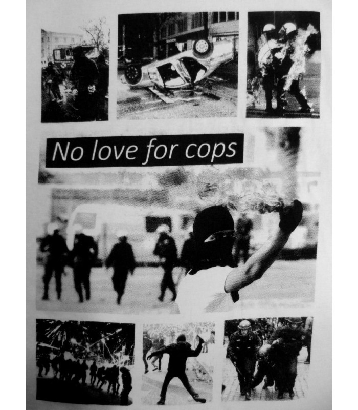 t shirt no love for cops no borders shop. Black Bedroom Furniture Sets. Home Design Ideas