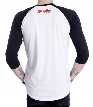 Unisex Baseball Longsleeve AFA - Red (white-black)