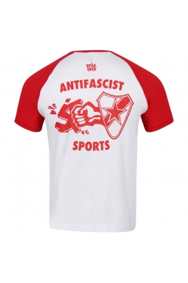 T-Shirt - RSL Antifascist Sports weiß/rot