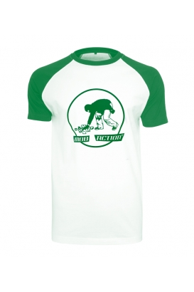 T-Shirt - Stones - Mob Action - white/green