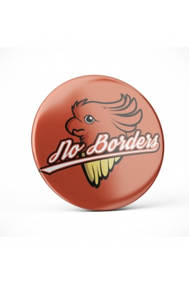 No Borders - Button