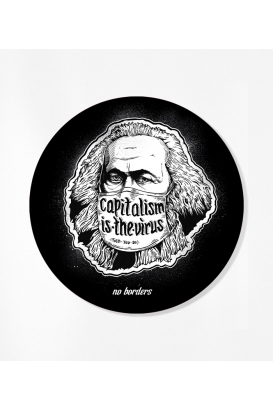 30 Sticker - Capitalism is the virus