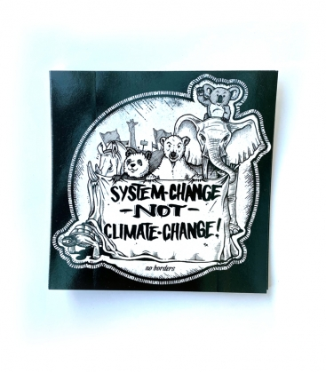 30 Sticker - System Change not Climate Change