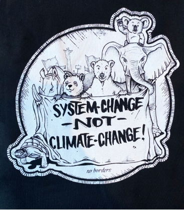 Hoodie - System Change not Climate Change