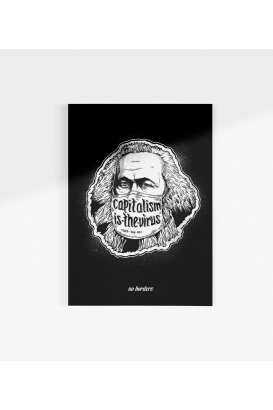 Poster - Capitalism is the Virus - black - A3