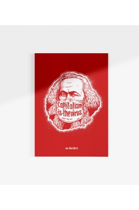 Poster - Capitalism is the Virus - red - A3