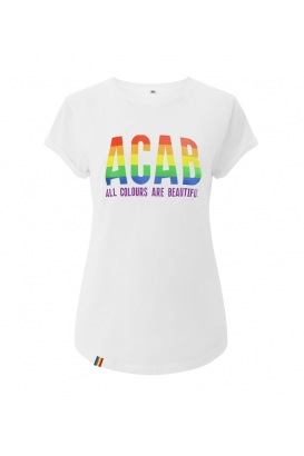 T-Shirts - ACAB - All Colours Are Beautiful - white  tailliert