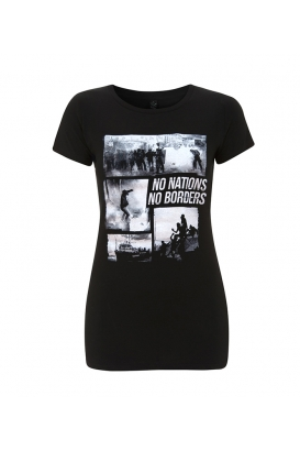 T-Shirts - No Borders No Nations - tailliert
